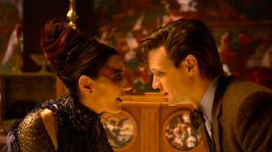The Doctor and Tasha discuss the mysterious signal (in a flirtatious way, of course).