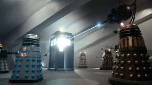 Daleks from all over the Dalek timeline!